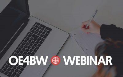 Celebrate Open Education Week with OE4BW Webinar No. 3