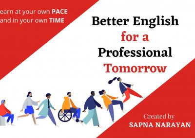 Better English for a Professional Tomorrow