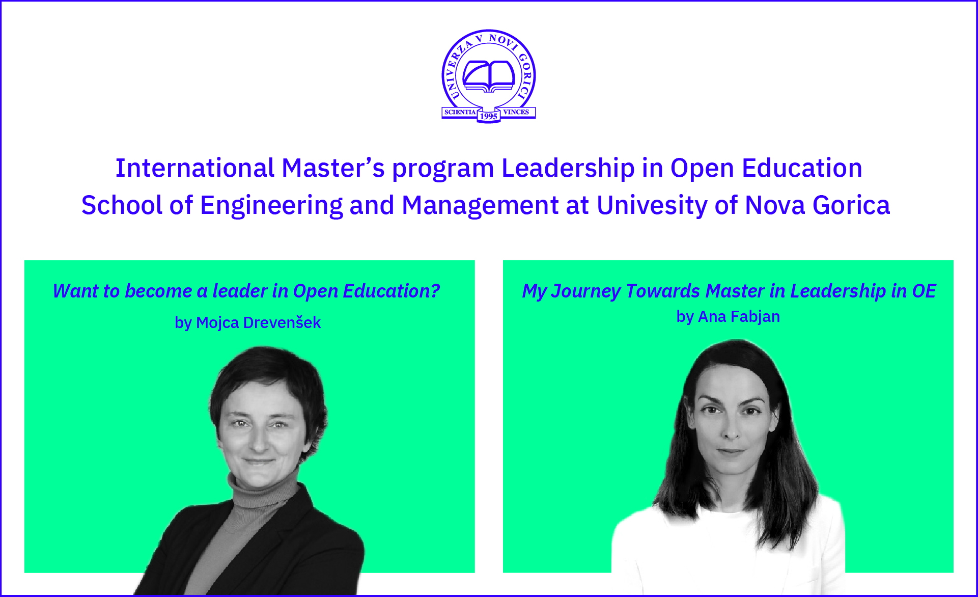 Master's program Leadership in Open Education