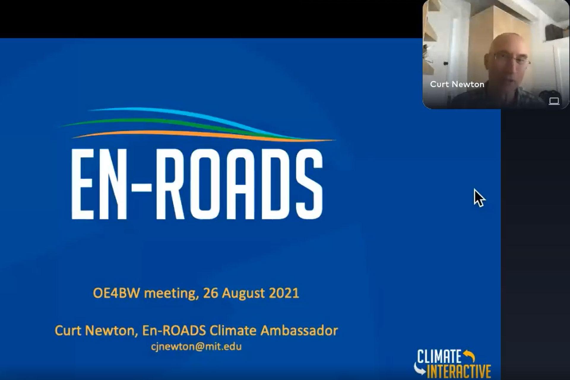 EN-ROADS Climate Change Solutions Simulator presentation by Curt Newton